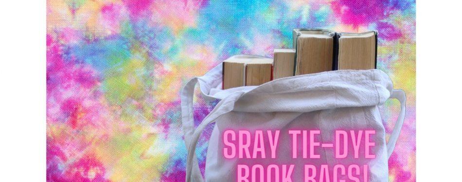 Sray tie-Dye Book Bags!